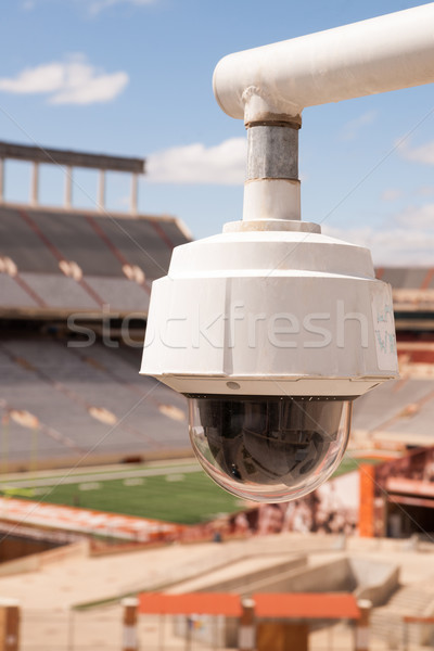 Video Security Camera Housings Mounted High on College Campus Stock photo © cboswell
