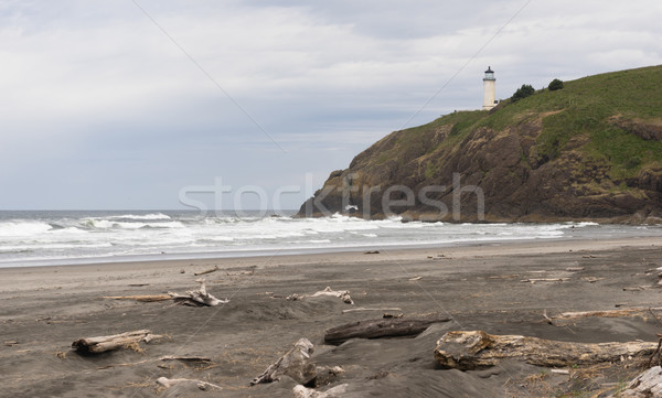 North Head Lighthouse Pacific Ocean Coast Nautical Beacon Light Stock photo © cboswell