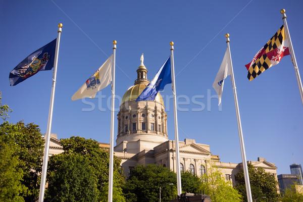 Atlanta Georgië goud koepel stad architectuur Stockfoto © cboswell