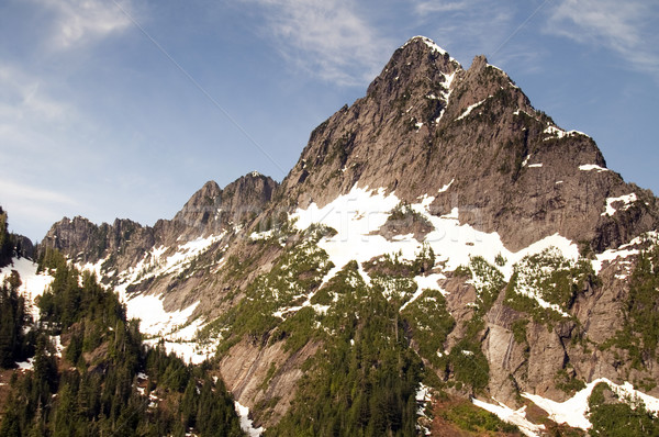 Rugged Jagged Peak North Cascade Mountain Range Washington State Stock photo © cboswell