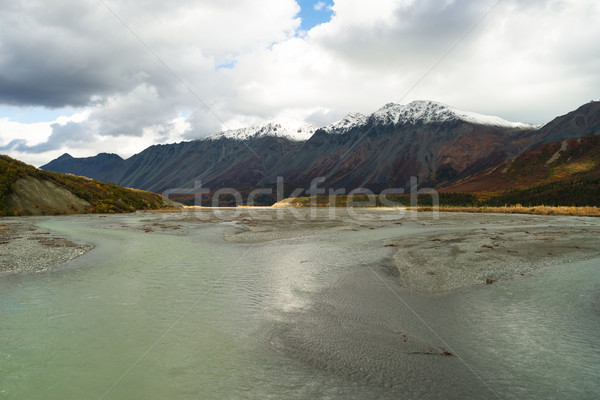 Turquoise Water Gulkana River Flows by Alaska Range Stock photo © cboswell
