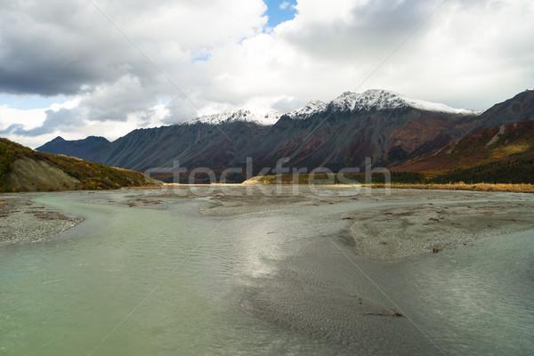 Turquesa água rio Alasca alcance grande Foto stock © cboswell