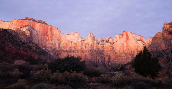 日の出 高い 山 公園 砂漠 南西 ストックフォト © cboswell