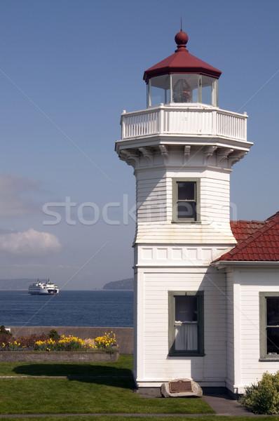 Waszyngton latarni morski oświetlać prom Zdjęcia stock © cboswell