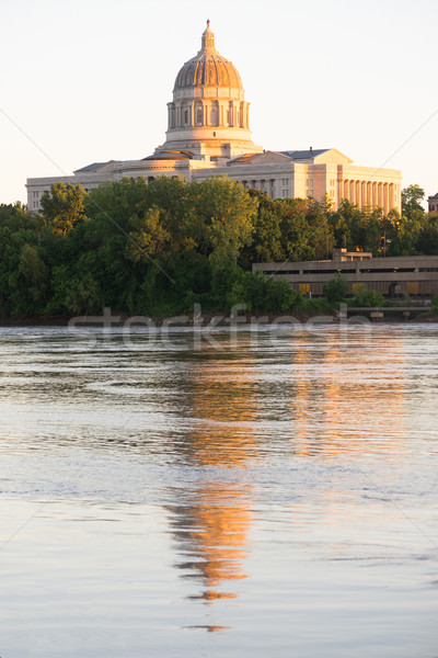 Jefferson City Missouri Capital Building Downtown Sunset Archite Stock photo © cboswell