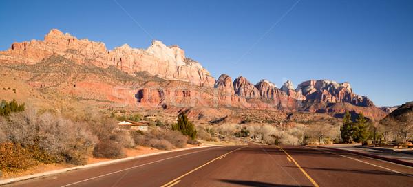 Twee weg woestijn zuidwest Utah Stockfoto © cboswell