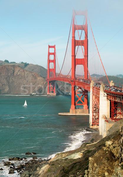 Golden Gate puente fuerte punto agua mar Foto stock © cboswell