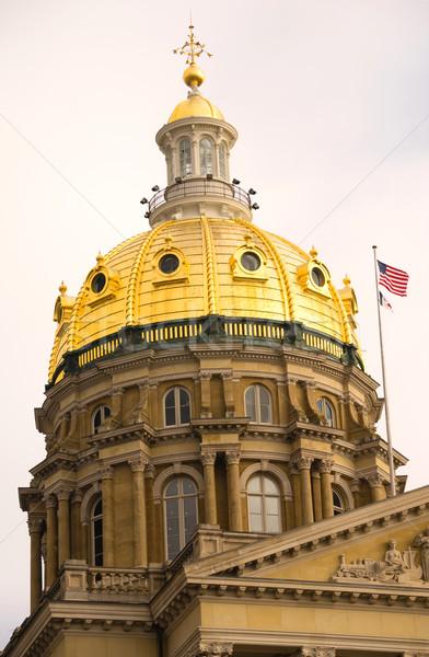 Bina hükümet kubbe mimari bayraklar uçmak Stok fotoğraf © cboswell