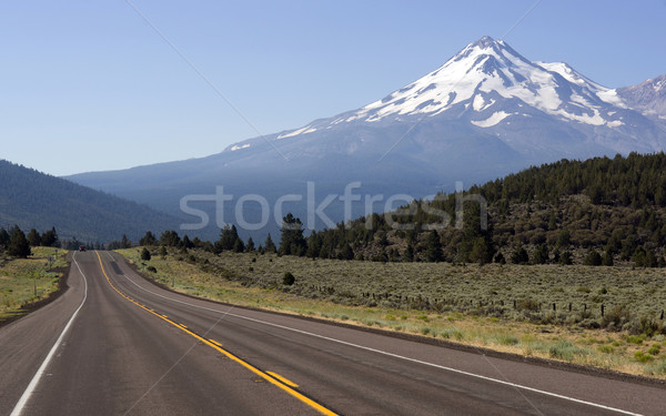 Weg landschap berg auto asfalt trottoir Stockfoto © cboswell