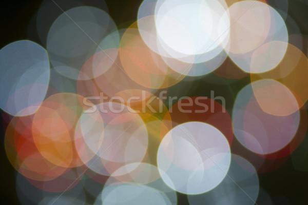 光 オーブ 水平な クリスマス ライト 長い ストックフォト © cboswell