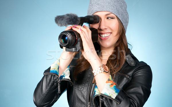 Quadril feminino pontos filmadora horizontal Foto stock © cboswell
