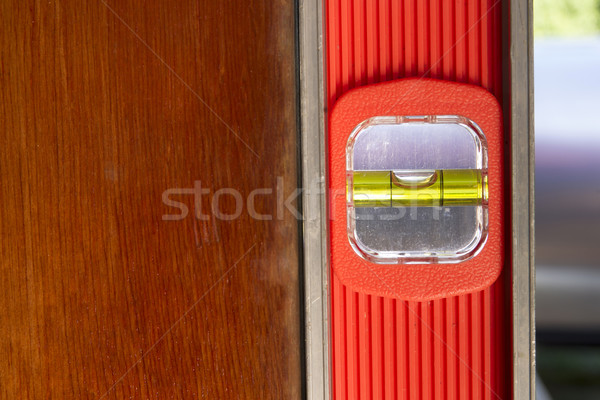 Vieux porte up longtemps orange niveau Photo stock © cboswell