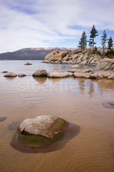 Smooth Rocks Clear Water Lake Tahoe Sand Harbor Stock photo © cboswell
