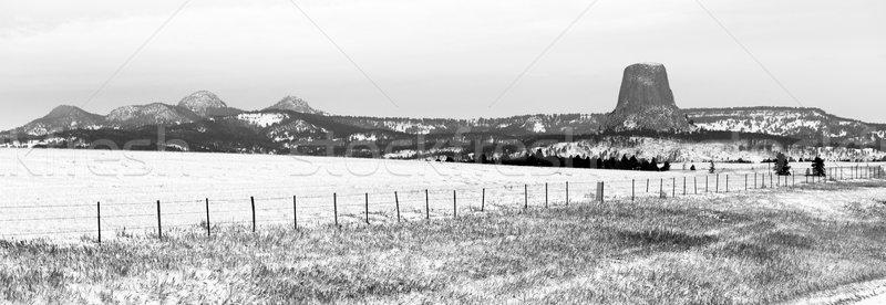 Torre invierno nieve rock frío día Foto stock © cboswell