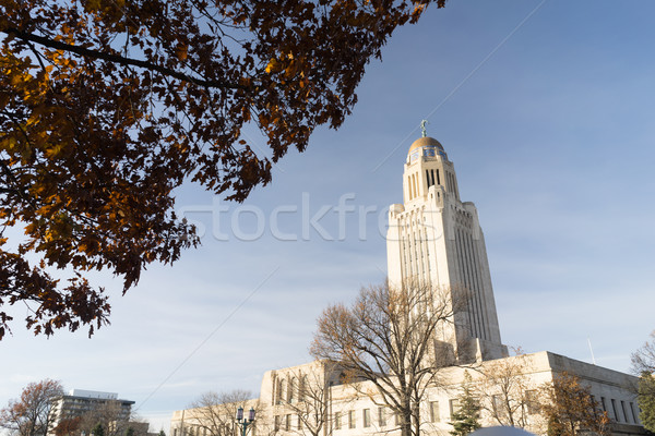 Lincoln Nebraska Capital Building Government Dome Architecture Stock photo © cboswell