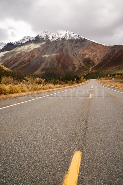 шоссе Аляска осень солнце Сток-фото © cboswell