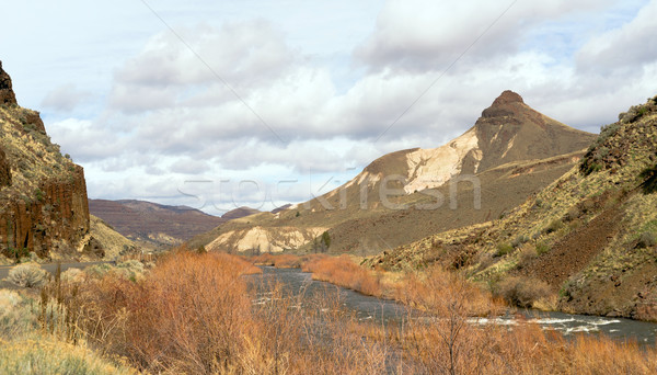 Oregon US 19 John Day River Highway Waterspout Gulch Stock photo © cboswell