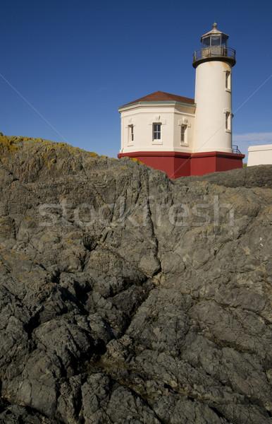 Rocky Lighthouse Stock photo © cboswell