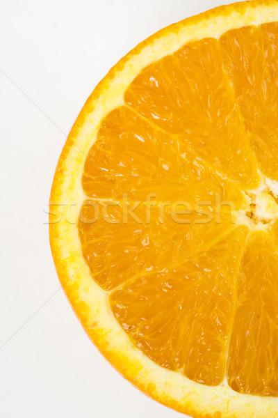 Half citrus oranje sappig rauw voedsel vruchten Stockfoto © cboswell