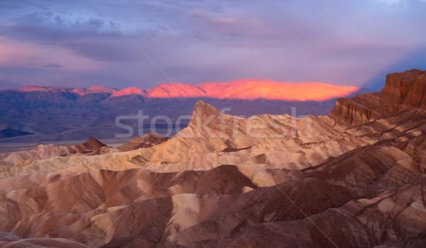 Dramático luz montanha alcance morte vale Foto stock © cboswell