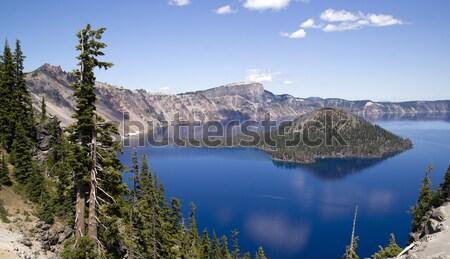 Cratera lago Oregon Estados Unidos céu floresta Foto stock © cboswell