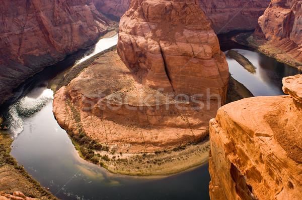 Patkó kanyar Colorado folyó víz természet Stock fotó © cboswell
