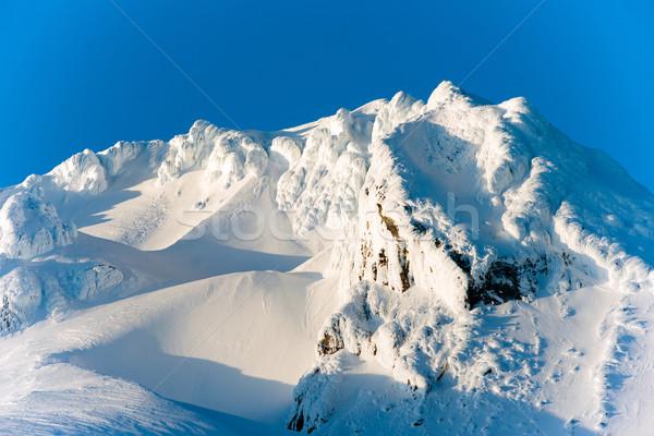 Wygaśnięcia kaskada narciarskie resort chmury Zdjęcia stock © cboswell