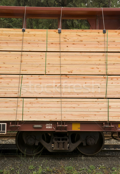 Tarcica samochodu transport ramki stali Zdjęcia stock © cboswell