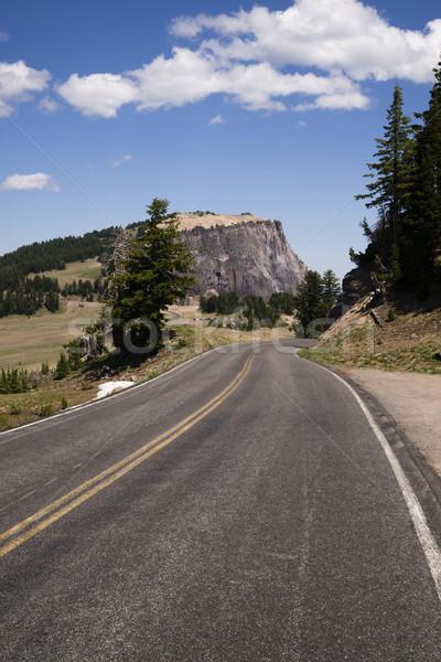 Egyenetlen Oregon kettő sáv autópálya amerikai Stock fotó © cboswell
