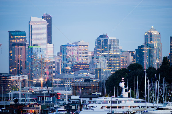 Photo stock: Luxe · bateaux · lac · Union · Seattle · centre-ville