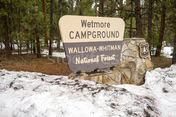 Wallowa Whitman National Forest Wetmore Campground Sign Oregon U Stock photo © cboswell