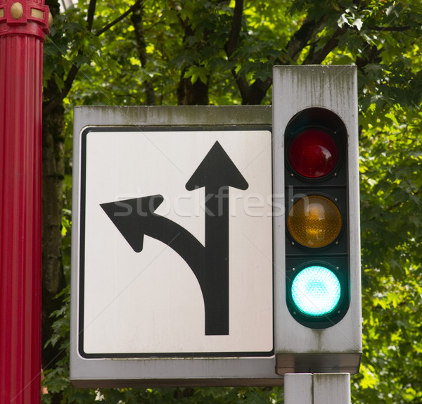 Traffic and Directional Symbols Signals Downtown Street Corner Stock photo © cboswell