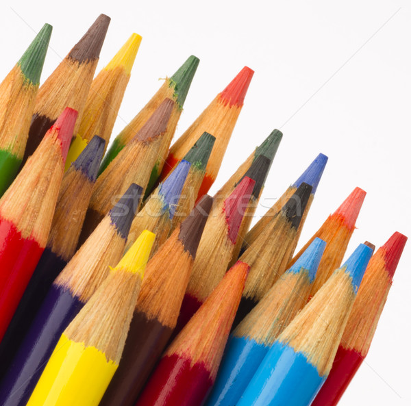 Macro Close Up Wood Multiple Color Art Supply Pencils Stock photo © cboswell