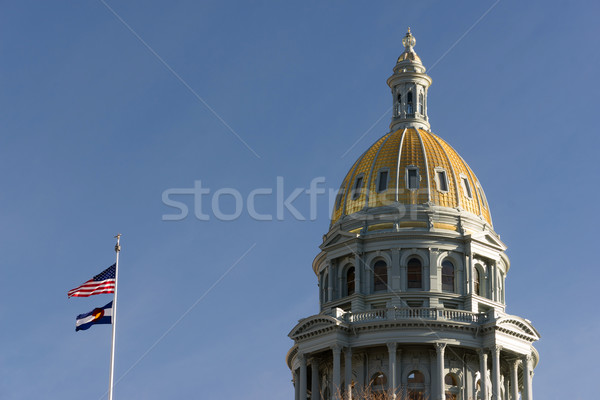 Colorado gebouw overheid koepel architectuur vlaggen Stockfoto © cboswell