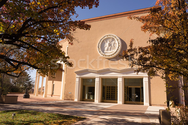 New Mexico State Capital Building Fall Autumn Color Santa Fe Stock photo © cboswell
