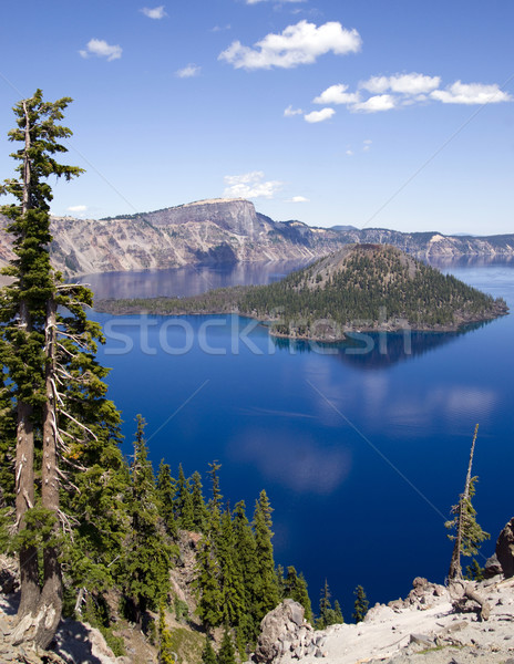 Cratera lago Oregon norte américa céu Foto stock © cboswell
