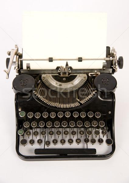 Máquina de escribir vintage blanco Foto stock © cboswell