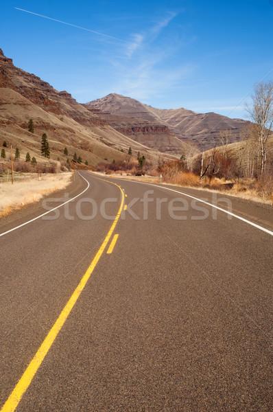 Back Road Through Wallowa Mountains Oregon United States Stock photo © cboswell