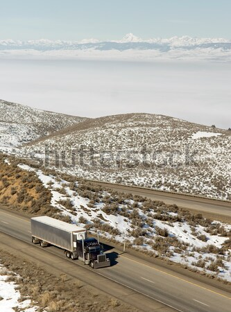 Stock photo: Fresh Snow Blankets Hillside Rural Country Scene Forgotten Ranch