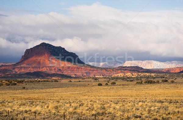 ユタ州 雲 劇的な 光 シーン ストックフォト © cboswell