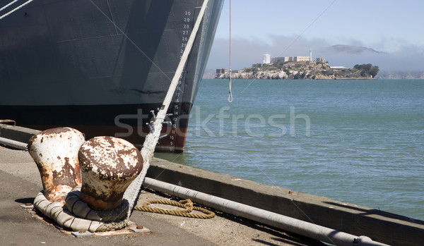 Wharf and Alcatraz Island Stock photo © cboswell