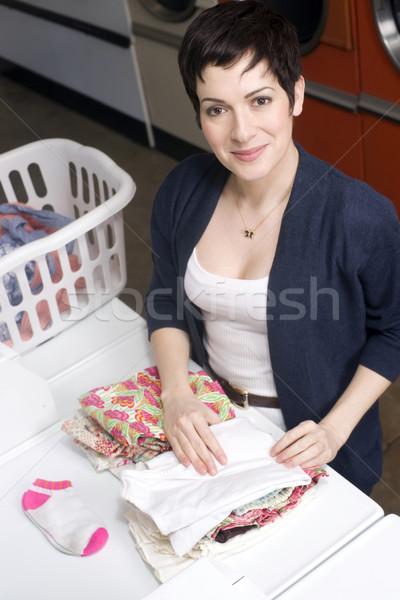 Folding Laundry Stock photo © cboswell