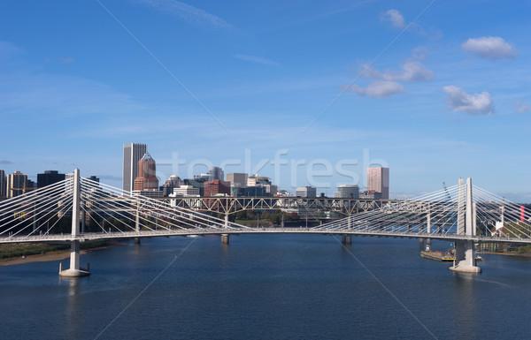 Tilikum Crossing Portland Oregon New Bridge Construction Willame Stock photo © cboswell