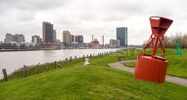 オハイオ州 水辺 タウン 川 今日 ストックフォト © cboswell