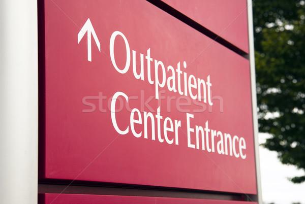 Foto d'archivio: Grande · rosso · ospedale · centro · emergenza · ingresso