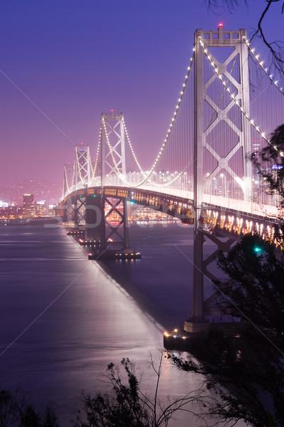 Brug spitsuur verkeer San Francisco vervoer auto Stockfoto © cboswell