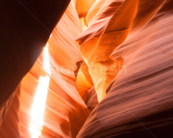 Sunlight Beams Through Crevasse Sandstone Rock Antelope Slot Can Stock photo © cboswell