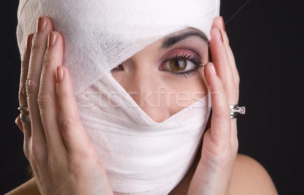 Donna estrema dolore mani testa Foto d'archivio © cboswell
