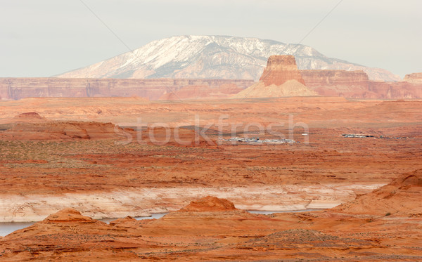 Lake Powell Smokey Mountain Utah Arizona Border Red Rock Landsca Stock photo © cboswell