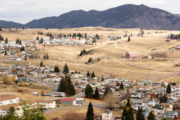 High Angle Overlook Walkerville Montana Downtown USA United Stat Stock photo © cboswell